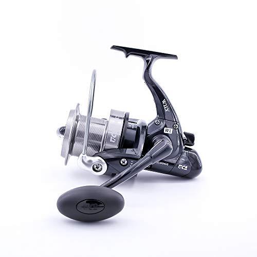 TICA Wily WL 9000 Mulinello da Pesca, Grigio, Blu Navy, Gear Ratio 4.1