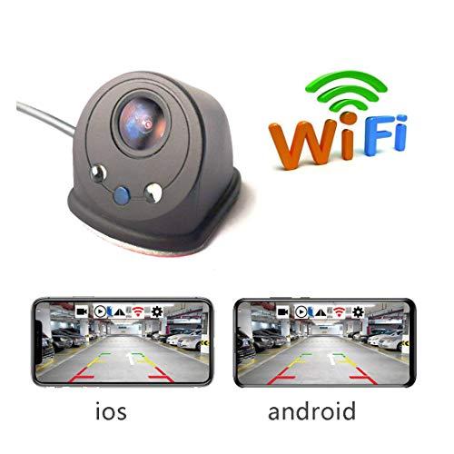 Auto Sinistra Destra Punto cieco Telecamera WiFi Visione Notturna Vista Laterale Telecamera DVR per Auto Dash Cam per iOS e Telefono Android