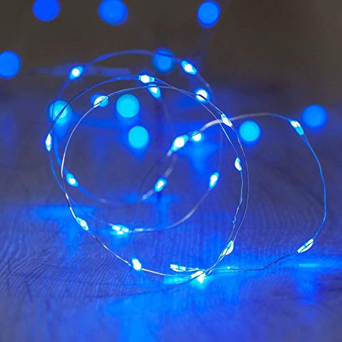ANJAYLIA Blue Fairy Lights 10Ft 30 LED String Lights Battery Operated for Wedding Home Dorm Party Craft Decorative Christmas Lights