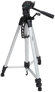 AmazonBasics Lightweight, Portable, Adjustable Camera Tripod with Bag, 60-Inch - Pack of 2