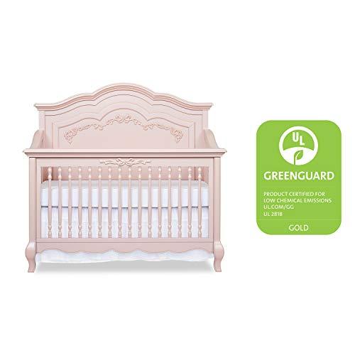 Product Image 3: Evolur Aurora 5-in-1 Convertible Crib, Blush Pink Pearl