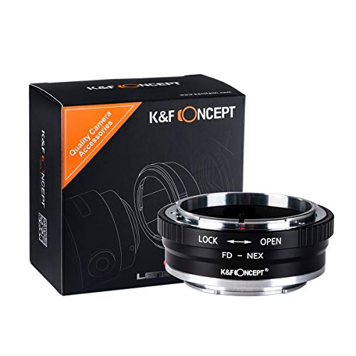 K&F Concept レンズマウントアダプター KF-FDE2 (キャノンFDマウントレンズ → ソニーEマウント変換)絞りリ...