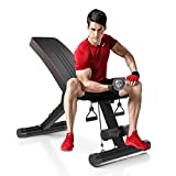 Dripex Adjustable Folding Weight Bench (2021 Upgraded Version), 330lbs Capacity Decline Incline Bench Press...