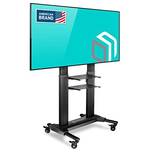 ONKRON Supporto TV da pavimento per schermi 40' - 80 pollici LCD LED QLED CARRELLO TV UNIVERSALE CON ROTELLE PIEDISTALLO PER TV FINO 45.5 kg MOBILE STAFFA TV CON VESA max 700 x 400 mm TS2771
