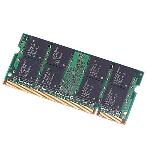 Febelle 1pcs Memoria RAM para Portátil (Compatible con Elpida 2GB DDR2 PC2-6400S, 800 MHz, 200 Pines, SO-DIMM, PC6400)