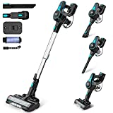 INSE Cordless Vacuum Cleaner Powerful Suction, 6-in-1 Lightweight Handheld Stick Vacuum, Up to 45 Mins Runtime, with Quiet Rechargeable Battery for Home Hard Floor Carpet Pet Hair Car - N5 Light Blue