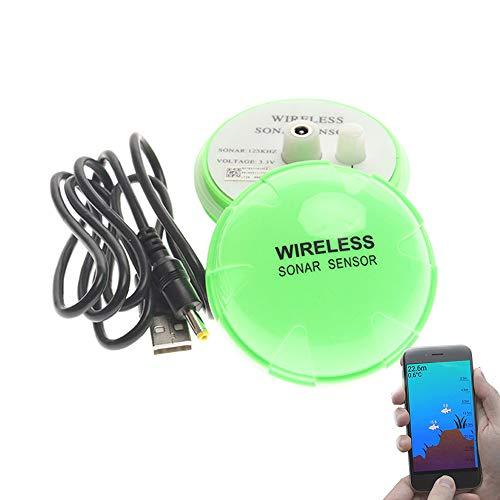 CARACHOME Smart ecoscandaglio da Pesca, sensore ecoscandaglio Portatile Wireless, visualizzabile Tramite l'APP Mobile, per Lago, Fiume, Mare, Pesca sul Ghiaccio