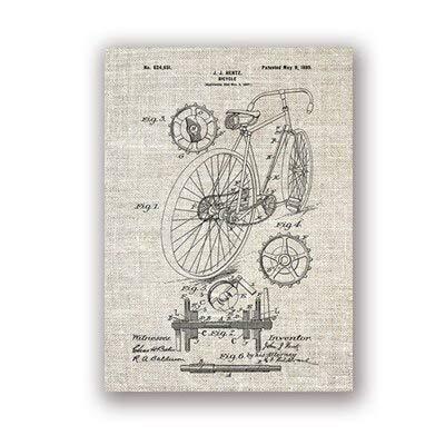 GQKLSA Bicicletta da Corsa Illustrazione Bicicletta da Parete Arte su Tela Pittura Poster...