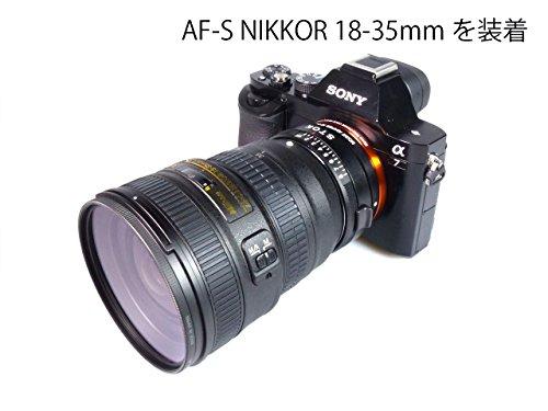 【α7対応】 ニコンFマウントレンズ-ソニー FE / E マウントアダプター(Gタイプレンズ・絞り調整対応) A7-NF-NEX
