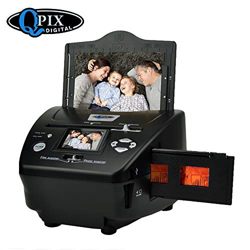Digital Photo Slide & Film Scanner with Popular Scanner 2.4 inch 8.1 Mega Pixels 4 in 1 Photo and Film Scanner 135 Negative Scanner Photo Scanner Combo Scanner Views on Your Computer or USB(Black)