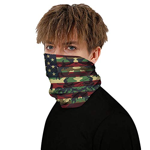 Neck Gaiter Face Bandanas, Reusable Balaclava Mask Scarf Shield for Fishing Cycling