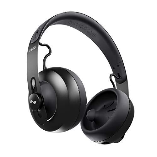 nuraphone — Kabelloser Bluetooth-Over-Ear- Kopfhörer mit Ohrstöpseln, sorgt für individuellen Sound, mit Active-Noise-Cancelling (ANC), Sozialmodus, Multi-Tap-Buttons, 20- stündiger Akkulaufzeit