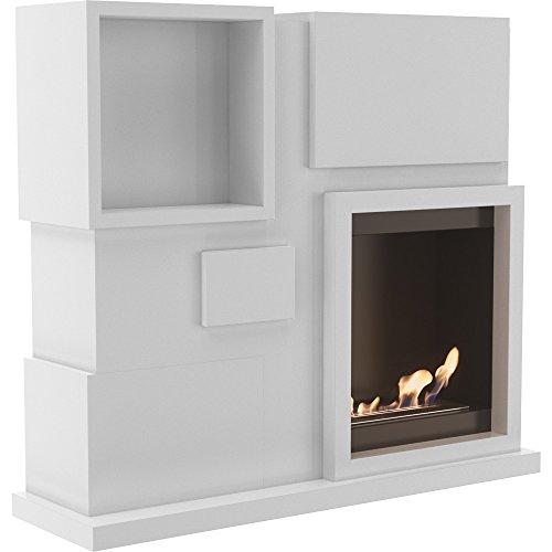 Water-Jacket Fireplace Insert Biokamin Ethanol Fireplace Decorative Table Fireplace July White