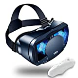 VR Headset Virtual Reality VR 3D Glasses VR Set Incl 3D Virtual Reality Goggles, Controller, Adjustable VR Glasses - Compatible with iPhone and Android Support 7 inch[with Gamepad]