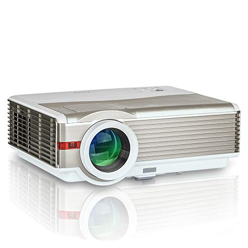 """4200Lumens LCD LED Projector 1080P HD Supported 200"""" Display Multimedia WXGA Home Theater Projector with HDMI Cable Compatible with Laptop TV Stick Chromecast Roku Xbox Wii Outdoor Movie Proyector"""