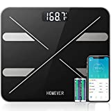 Bluetooth Body Fat Scale,Homever Smart Digital Weight Scale Bathroom Scale with 13 Body Composition Monitor Fitness Analyzer Weighing Scales with Free iOS Android App for BMI,Muscle,BMR,etc,400lb