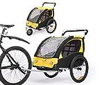 Fiximaster BT502 Remorque de vélo pour enfant avec roue avant rotative à...