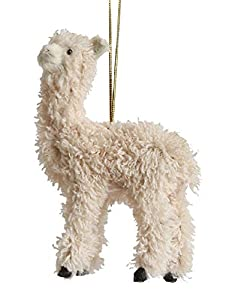 "One Llama Hanging Ornament Measures 5""H x 4""L Made with faux fur and a string attached for hanging Features a furry llama ornament - a fun addition to any holiday collection! Brighten up your tree this Christmas with this beautiful llama ornament! Ma..."