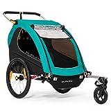 Burley Encore X, 2 Seat Kids Bike Trailer & Stroller