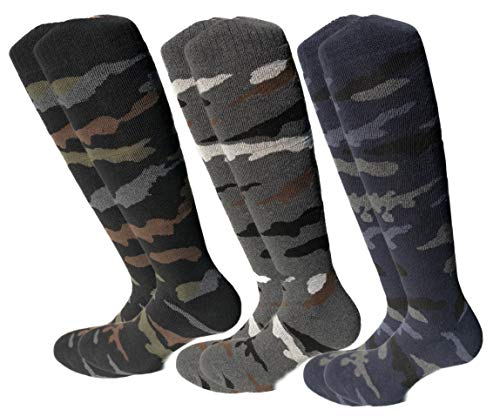 Lucchetti Socks Milano 6 Paia calze calzini UOMO lunghi da lavoro COTONE FELPATO TERMICO (EU 43-46 UK 9-11, 6 PAIA MIMETICI)