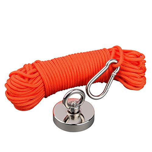 Mutuactor Fishing Magnets 400lbs Pull Force,Strong Retrieval Magnet...