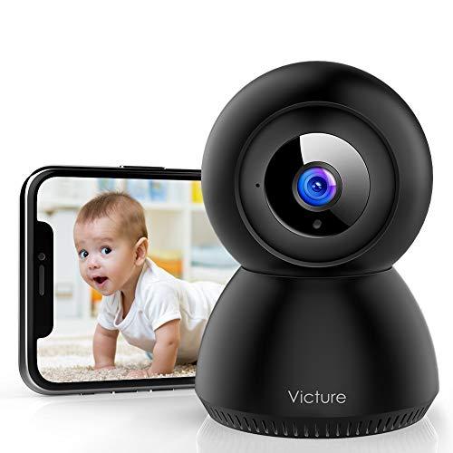 Victure 1080P Baby Monitor con Rilevamento del Suono, Telecamera Wifi di Sorveglianza Interna con Visione Notturna, Monitoraggio del Movimento