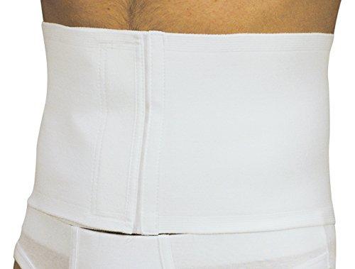 MANIFATTURA BERNINA Sana 55103 (Taglia 3) - Fascia Vita pancera Post-operatoria Addominale Regolabile in Cotone Chiusura Velcro Altezza 18 cm