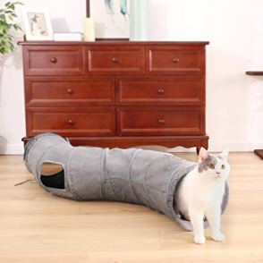 PAWZ-Road-Cat-Tunnel-Collapsible-S-Shape-Cat-Play-Tube-105-Inches-in-Diameter