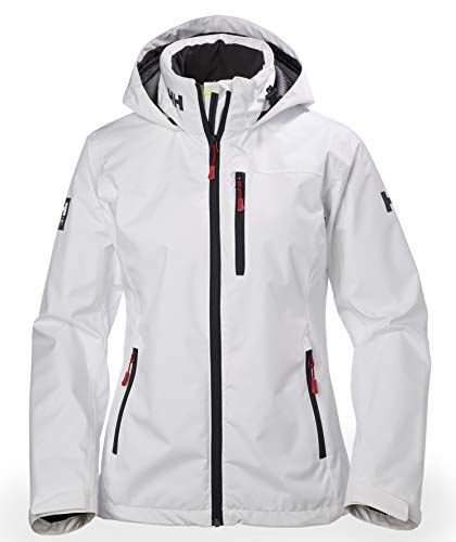 Helly Hansen Damen W CREW HOODED MIDLAYER JACKET Jacke W CREW HOODED MIDLAYER JACKET, weiß (White), Small (Herstellergröße: Small)
