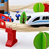 Battery Operated Train Set – Wooden Toys for Kids and Toddlers – Premium Quality Wood Fits Thomas Brio – Fun & Entertaining (88 PCS.)