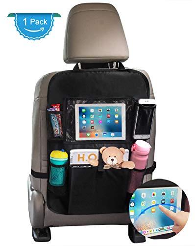 Sedile Auto posteriore organizer, proteggi sedile auto per bambini con giocattolo/bottiglie/10' iPad...