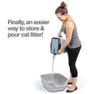 PetFusion-BetterBin-Portable-Litter-Storage-Bin-Container-165-x-117-x-19-lwh-Holds-up-to-25-lbs10-Gallons-Great-for-Dry-Dog-Cat-Food-Adj-Spout-Back-Top-Handles-Heavy-Duty-Wheels