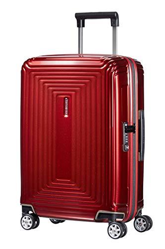 Samsonite Neopulse - Spinner S (Larghezza: 20 cm) Bagaglio a Mano, 55 cm, 38 L, Rosso (Metallic Red)