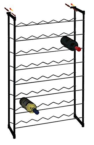 17.20.48 Nero Cantinetta portabottiglie Parigi 48 - Misure Cm 58x24x93h - dotato di 2 tasselli per fissaggio a muro
