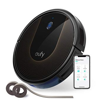 eufy by Anker, BoostIQ RoboVac 30C, Robot Vacuum Cleaner, Wi-Fi, Super-Thin, 1500Pa Suction, Boundary Strips Included, Quiet, Self-Charging Robotic Vacuum, Cleans Hard Floors to Medium-Pile Carpets