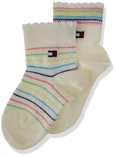 Tommy Hilfiger Multicolour Baby Socks (2 Pack) Calzini, bianco, 19-22 Bimbo