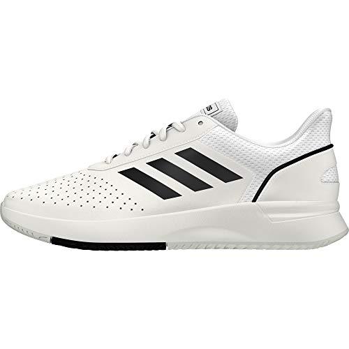 Adidas Courtsmash, Zapatillas de Tenis para Hombre, Blanco (Ftwbla/Negbás/Gridos 000), 44 2/3 EU