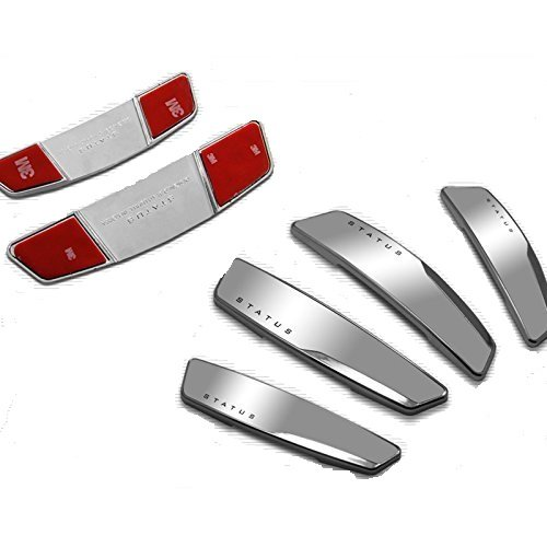 AUTO CAR WINNER Status Silver High Glossy Slim Door Edge Guards Set of 4-(Made in Korea)