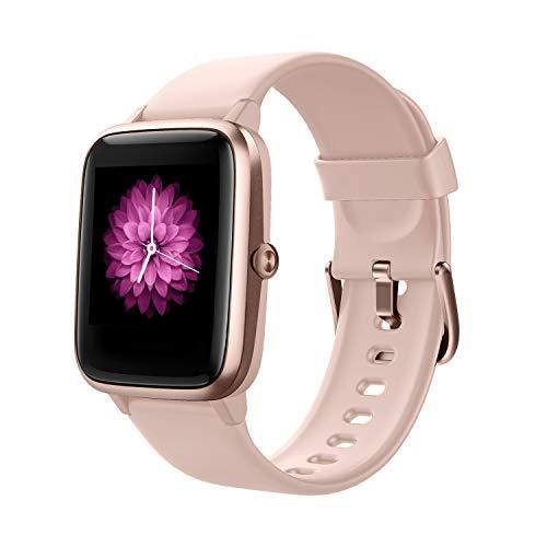 Smart Watch Fitness Tracker Fitness Armband mit herzfrequenz,SmartWatch IP68 Wasserdicht Fitness Uhr Voller Touchscreen mit Musiksteuerfunktion Schlafmonitor Uhren für Damen Herren Kinder (Black)