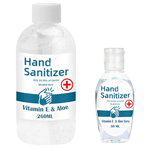 SHUDAGE Hand Soap Soothing Gel No-wash Dvanced Quick-drying Sanitizer Hand Long-Lasting Cleaning Hand Wash Lotion Alcohol Free 24-Hour Protection,50/260ml (260ML)