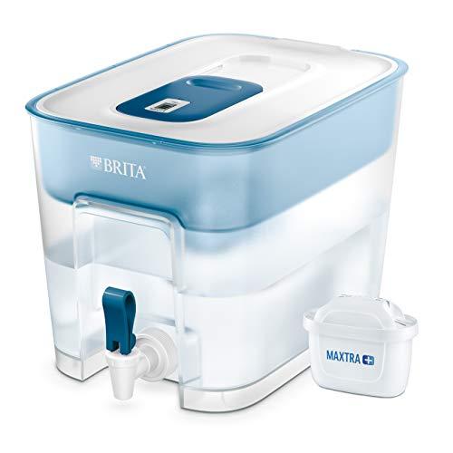 BRITA Flow - Dispensador de agua filtrada extra grande - Incluye un cartucho MAXTRA+ que reduce la cal y el cloro