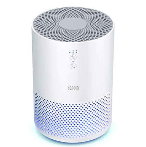 TOPPIN HEPA Air Purifiers for Home Bedroom UV Light Pet Hair...