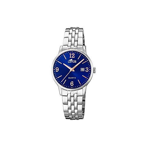 Lotus Damen Analog Quarz Uhr mit Edelstahl Armband 18698/4
