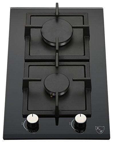 K&H Domino Piano cottura a Gas 2 Fornelli 30cm 2Z-KHG