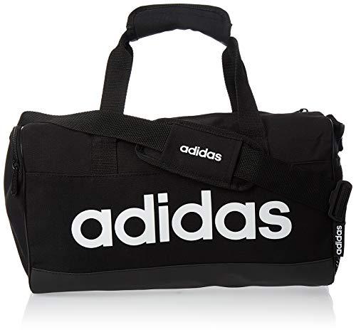 adidas Herren Linear Duffelbag, Black/Black/White, One Size