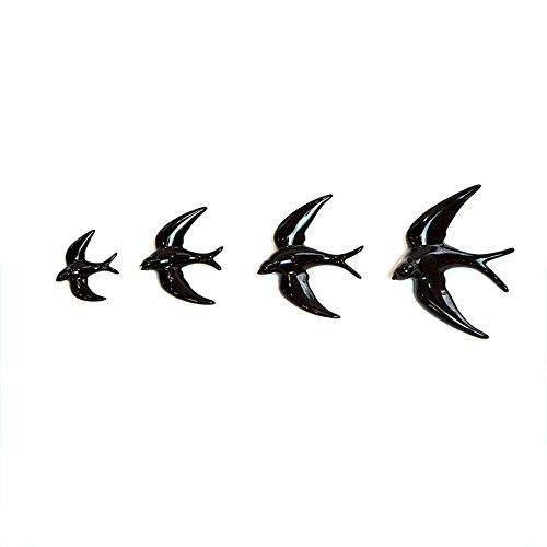 FANMEX - Fantastik - Set of 4 ceramic Swallows: 1 Mini (7 x 8.5 cm) - 1 small (10 x 11.5 cm) - 1 Medium (13 x 14.50 cm) - 1 Large (15 x 17.50 cm)