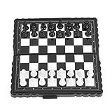 YC electronics Jeu d'échecs International d'échecs portatifs en Plastique Pliant d'échiquier magnétique Jeu de Dames d'échecs pour Les Enfants Activité de fête d'adolescent Éducation Conseil