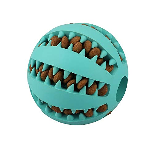 QINUKER Dog Ball Toys Pet Cat, Chew Toy Interactivo Durable, Dientes...