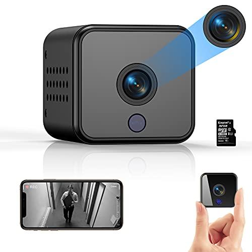 Telecamera Nascosta, ACTITOP WiFi Microcamera Spia, FHD 1080P Telecamera Wi-Fi Interno Senza Fili con Visione Notturna Piccole Videocamera di Sorveglianza, Rilevamento di Movimento per Auto, Esterno