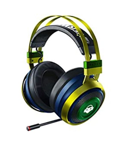 Razer Nari Ultimate Wireless 7.1 Surround Sound Gaming Headset: THX Audio & Haptic Feedback - Auto-Adjust Headband - Chroma RGB - Retractable Mic - For PC, PS4, PS5 - Overwatch Lucio Edition